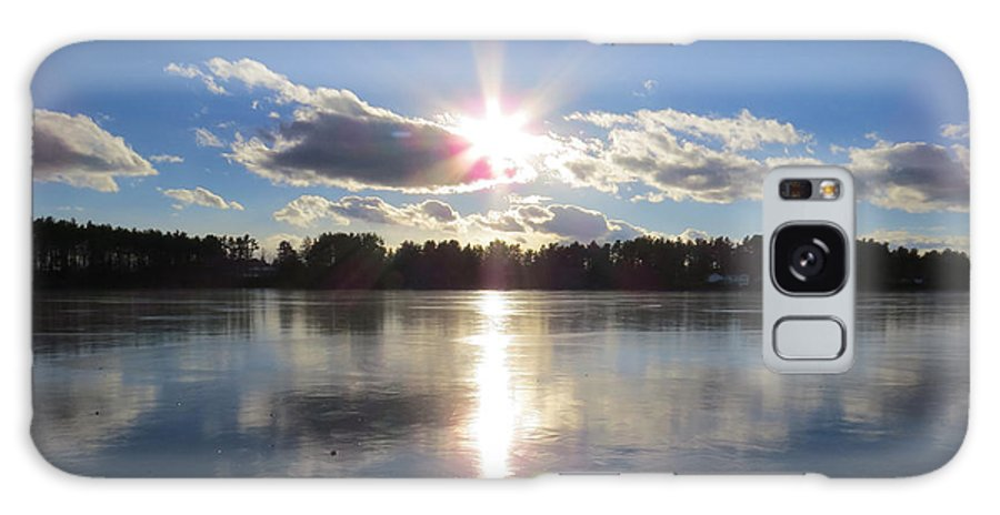 Sunset Galaxy S8 Case featuring the photograph Sunset Ove A Frozen Pond by Richard Griffis