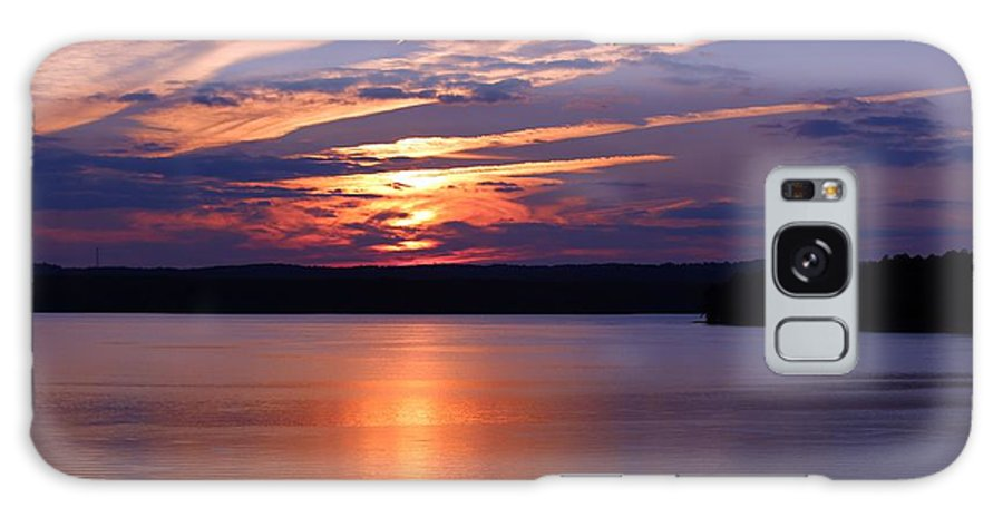 Jordan Lake Galaxy S8 Case featuring the photograph Sunset Over Jordan by Scotty Alston