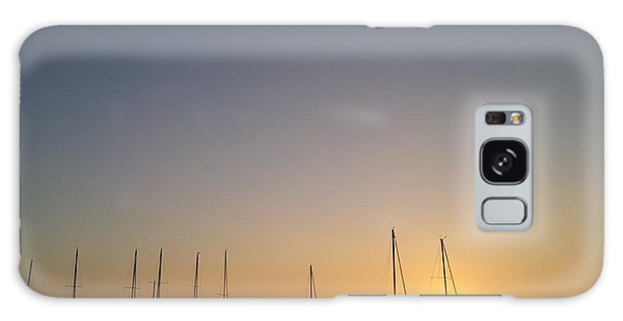 Sunset Pensacola Beach Boat Harbor Galaxy S8 Case featuring the photograph Sunset Over Pensacola Bay by Ray Valverde