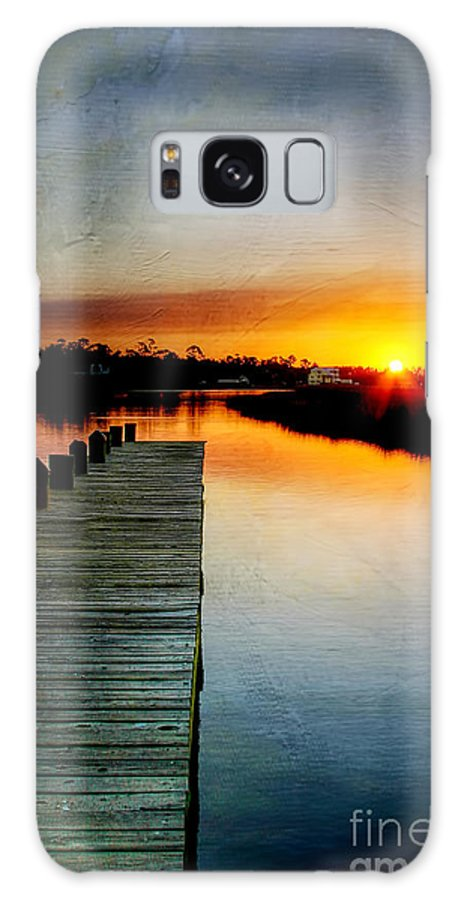 Pier Galaxy S8 Case featuring the photograph Sunset Pier by Joan McCool