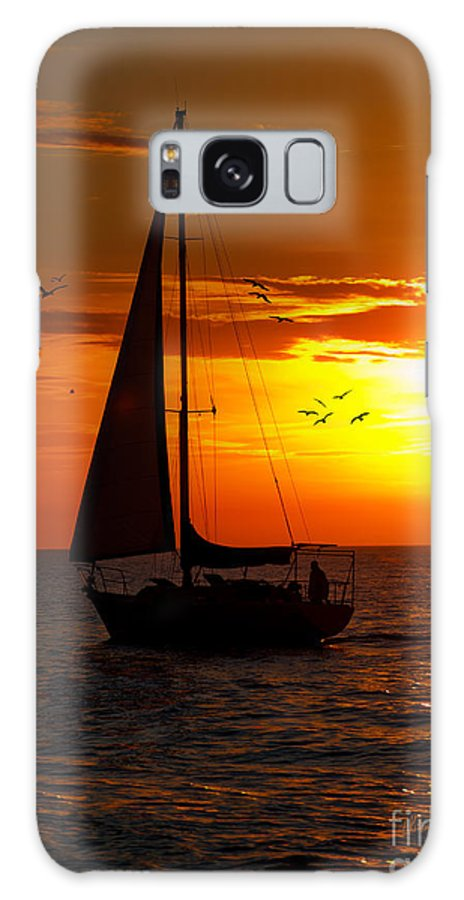 Sailing Galaxy S8 Case featuring the photograph Sunset Sail Venice Florida by Anne Kitzman