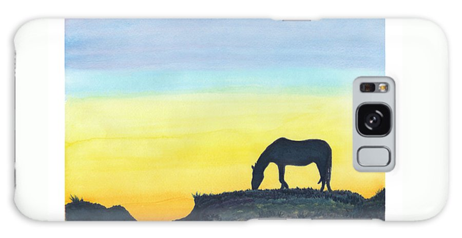 C Sitton Painting Paintings Galaxy S8 Case featuring the painting Sunset Silhouette by C Sitton