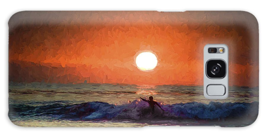Surfer Galaxy S8 Case featuring the photograph Sunset Surfer by Don Harper
