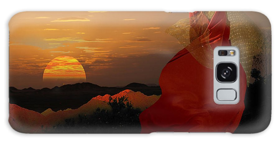 Models Galaxy S8 Case featuring the digital art Sunset Tinic by Angelika Drake