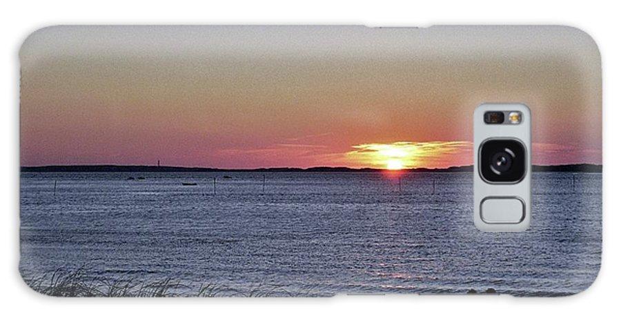 Sunset Walk Along The Beach Galaxy S8 Case featuring the photograph Sunset Walk Along The Beach by Allen Beatty