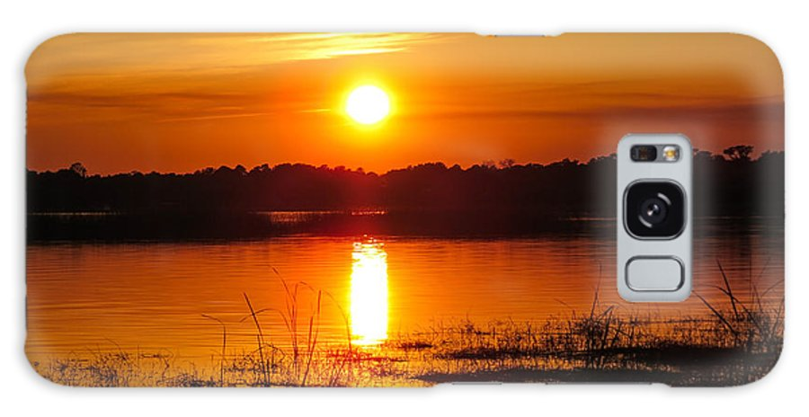 Sunset Galaxy S8 Case featuring the photograph Sunset Walk In The Water by Zina Stromberg