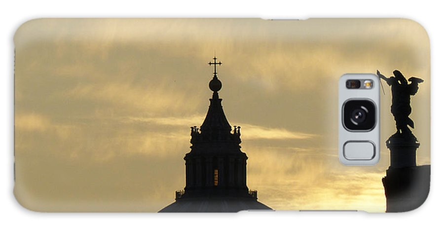 Rome Galaxy S8 Case featuring the photograph Sunset With Angel by Giorgio Lumaconi