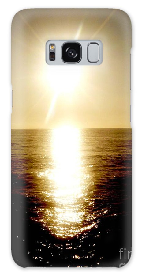 Landscape Galaxy S8 Case featuring the pyrography Sunset With Its Golden White by Fei A
