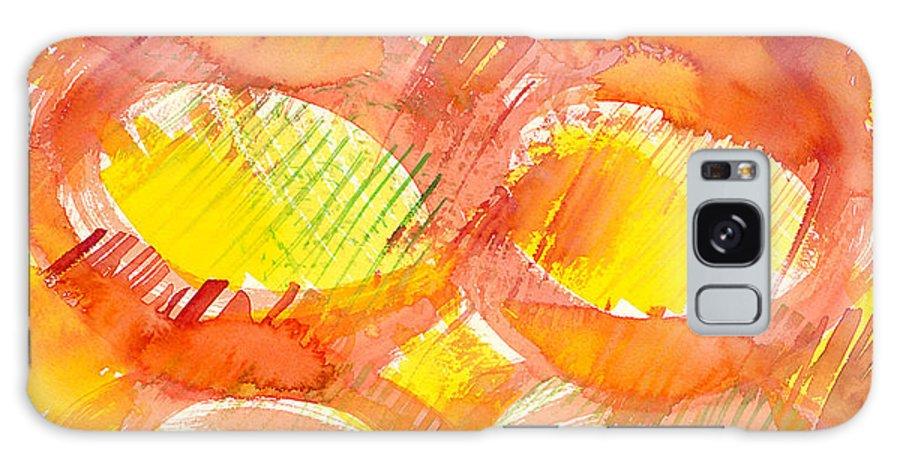 Sun Galaxy S8 Case featuring the painting Sunshine Circles by Sara Srubar