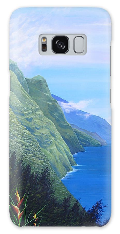 Landscape Galaxy Case featuring the painting Sunshine In The Shade by Hunter Jay