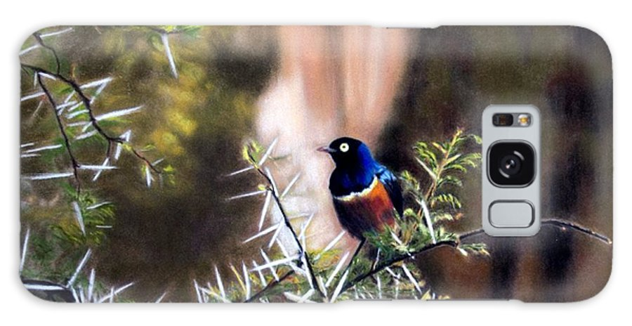 Family Room Galaxy S8 Case featuring the painting Superb Starling by Carol McCarty