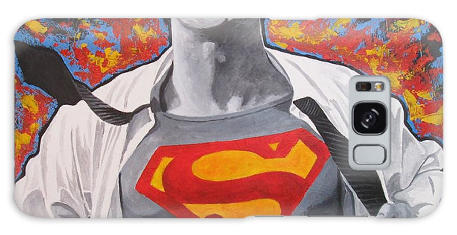 Superman Galaxy S8 Case featuring the painting Superman by Patrick Killian