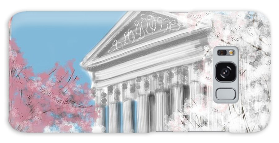 Supreme Court Galaxy S8 Case featuring the painting Supreme Court Washington Dc by Lois Ivancin Tavaf