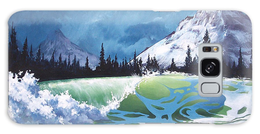 Wave Galaxy Case featuring the painting Surf and Snow by Philip Fleischer