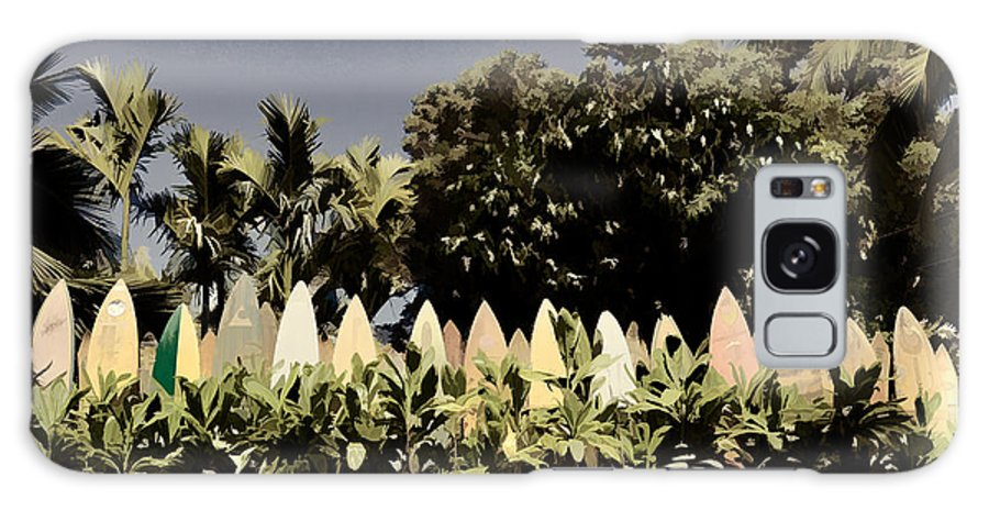 Nature Galaxy S8 Case featuring the photograph Surfboard Fence - Old Postcard by Paulette B Wright