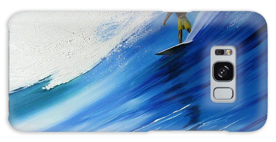 Surfer Galaxy Case featuring the painting Surfer by Maria Mills