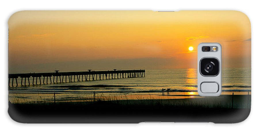 Ocean Galaxy S8 Case featuring the photograph Surfers Sunrise by Susan McMenamin