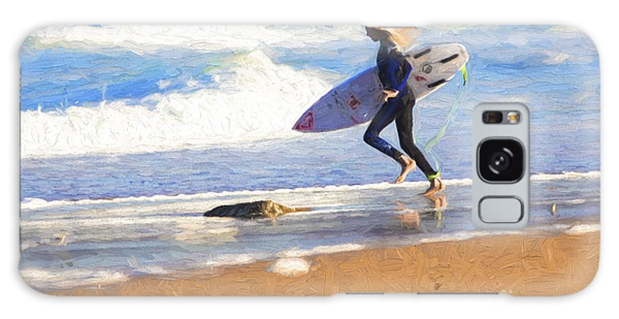 Surfer Galaxy Case featuring the photograph Surfing girl by Sheila Smart Fine Art Photography