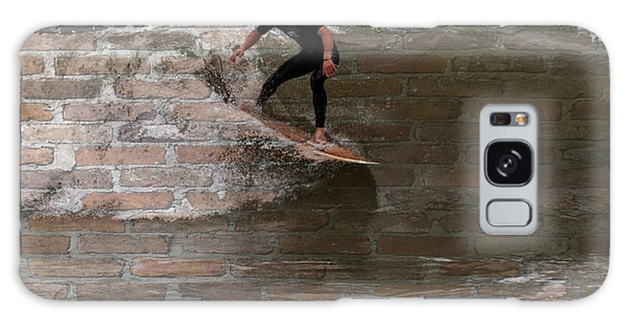 Surfer Galaxy S8 Case featuring the photograph Surfing The Bricks by Alice Gipson