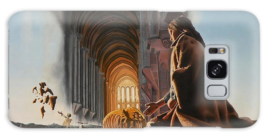 Surreal Galaxy Case featuring the painting Surreal Cathedral by Dave Martsolf