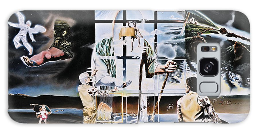 Surreal Galaxy Case featuring the painting Surreal Windows Of Allegory by Dave Martsolf