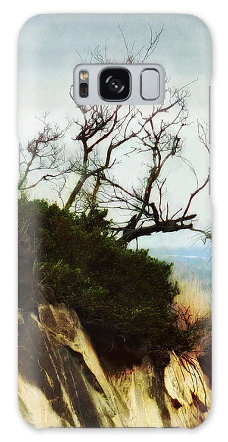 Halswell Galaxy S8 Case featuring the photograph Surviving On The Cliff Top by Steve Taylor
