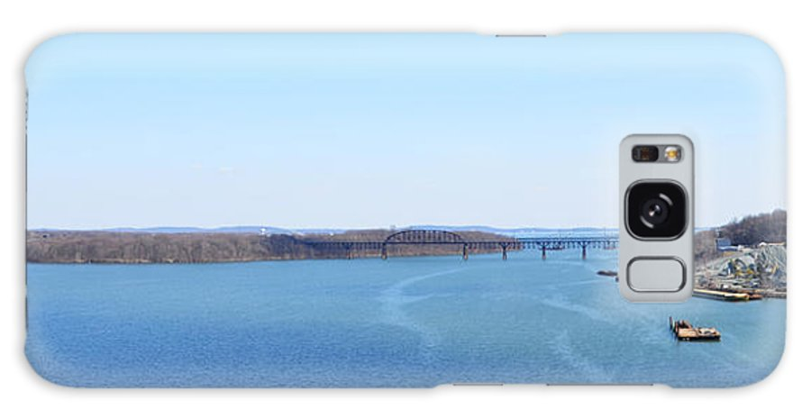 Susquehanna Galaxy S8 Case featuring the photograph Susquehanna River And The Thomas J Hatem Bridge by Bill Cannon