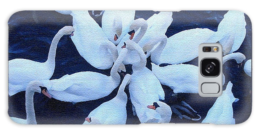 Swan Galaxy S8 Case featuring the photograph Swan Party by Jack Gannon