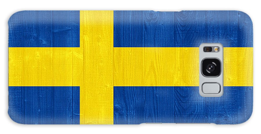 Sweden Galaxy S8 Case featuring the photograph Sweden Flag by Luis Alvarenga