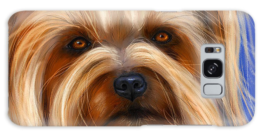 Silky Terrier Galaxy S8 Case featuring the painting Sweet Silky Terrier Portrait by Michelle Wrighton