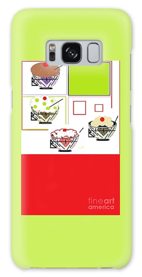 Sweet Tooth Galaxy S8 Case featuring the digital art Sweet Tooth by Ann Calvo