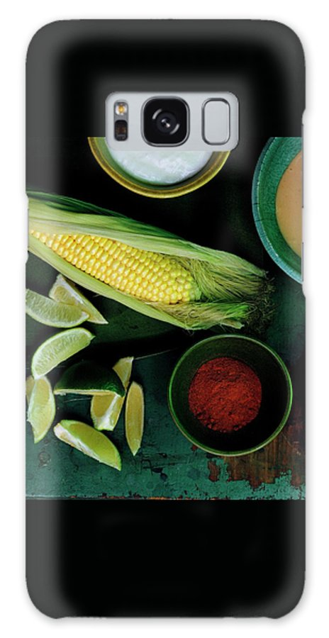 Fruits Galaxy S8 Case featuring the photograph Sweetcorn And Limes by Romulo Yanes