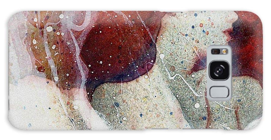 Woman Galaxy S8 Case featuring the digital art Swept In A Bubbly Dream by Gun Legler