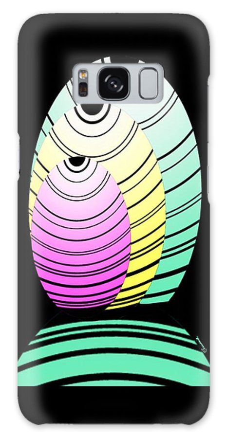 Graphic Fish Galaxy S8 Case featuring the digital art Swim Swim by Christine Fournier