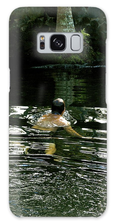 Hawaii Galaxy S8 Case featuring the photograph Swimming In The Pond ...ahhh by Lehua Pekelo-Stearns