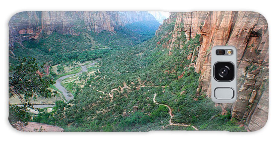 Zion National Park Galaxy S8 Case featuring the photograph Switch-backs by Jon Emery