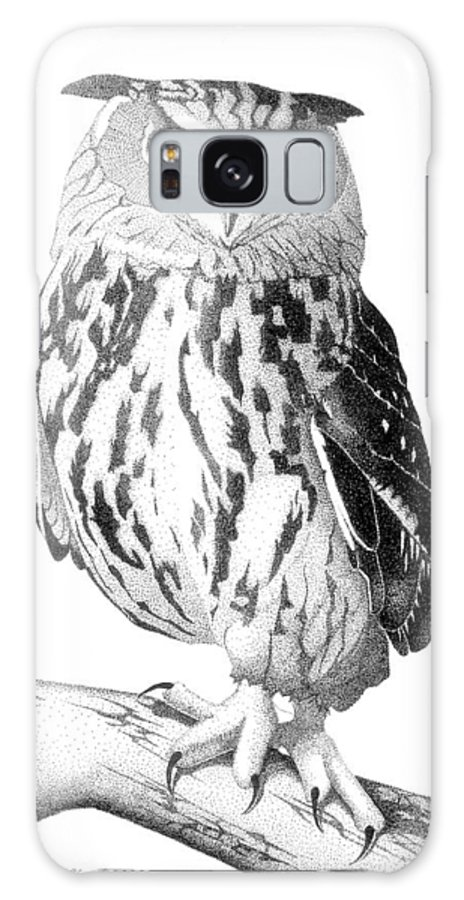 Owl Galaxy S8 Case featuring the drawing Swoop by Julie Stubbs