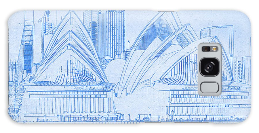 Sydney opera house blueprint drawing galaxy s8 case for sale by sydney opera house blueprint drawing galaxy s8 case featuring the digital art sydney opera house malvernweather Image collections