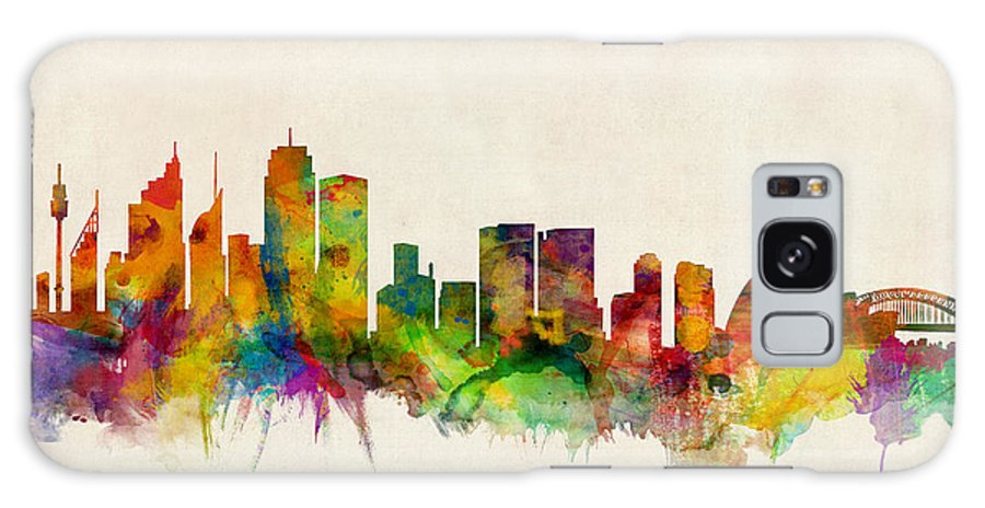 Sydney Galaxy S8 Case featuring the digital art Sydney Skyline by Michael Tompsett