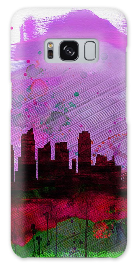 Sydney Galaxy S8 Case featuring the painting Sydney Watercolor Skyline 2 by Naxart Studio