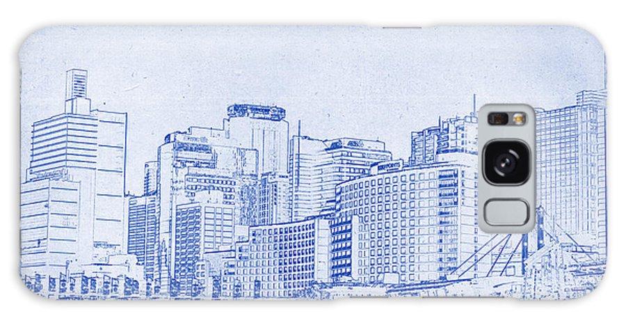 Sydney Galaxy S8 Case featuring the photograph Sydney's Cockle Bay Blueprint by Kaleidoscopik Photography