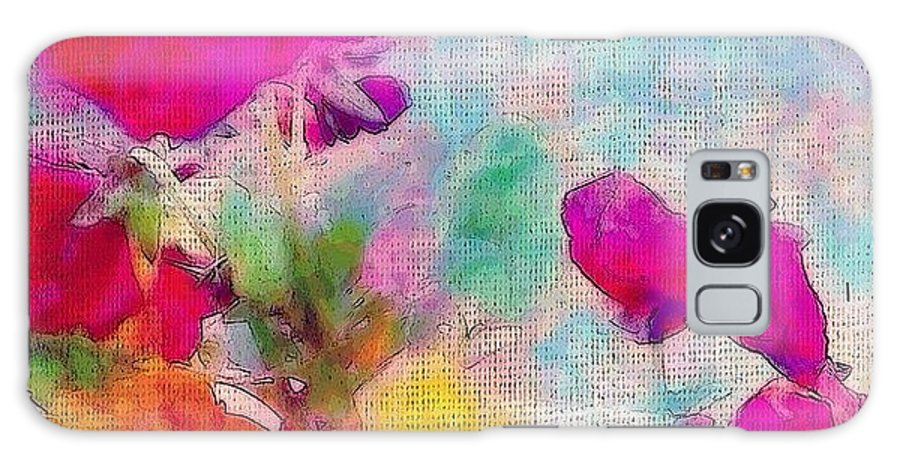 Pansies Galaxy Case featuring the photograph synchronicity... #digitalart With by Robin Mead