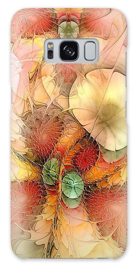 Abstract Galaxy S8 Case featuring the digital art Syncopated Summer Passion by Casey Kotas