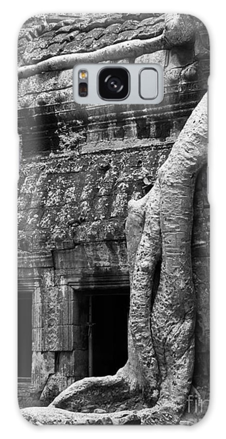 Cambodia Galaxy S8 Case featuring the photograph Ta Prohm Roots And Stone 05 by Rick Piper Photography