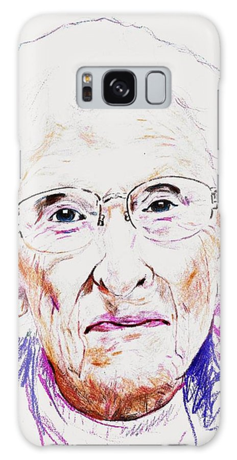 America Nebraska Lincoln Tabitha Resident Pencil Drawing Galaxy S8 Case featuring the drawing Tabitha Resident 4 by PainterArtist FIN