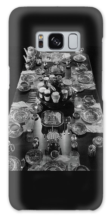 Interior Galaxy Case featuring the photograph Table Settings On Dining Table by The 3