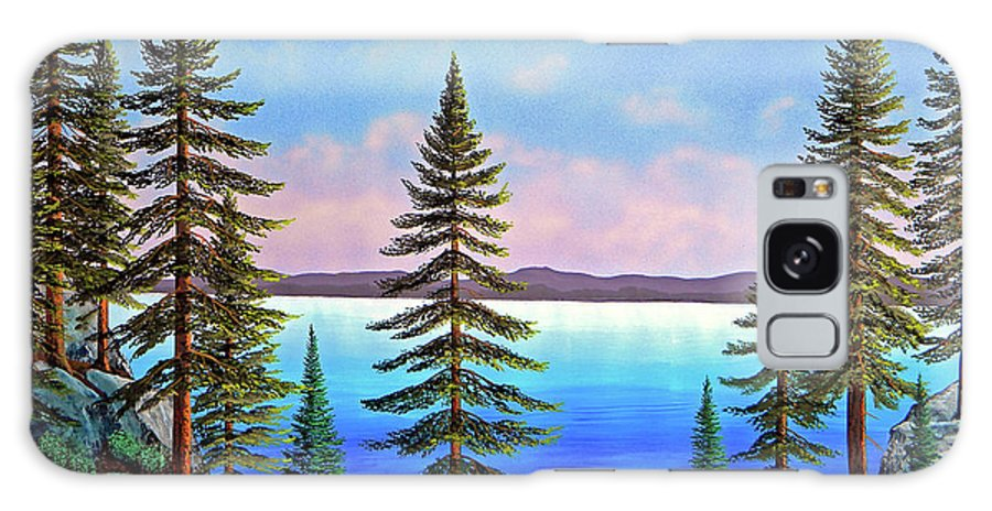 Gouache Galaxy S8 Case featuring the painting Tahoe Pines by Frank Wilson