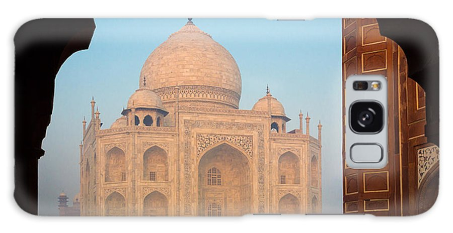 Agra Galaxy Case featuring the photograph Taj Mahal Dawn by Inge Johnsson