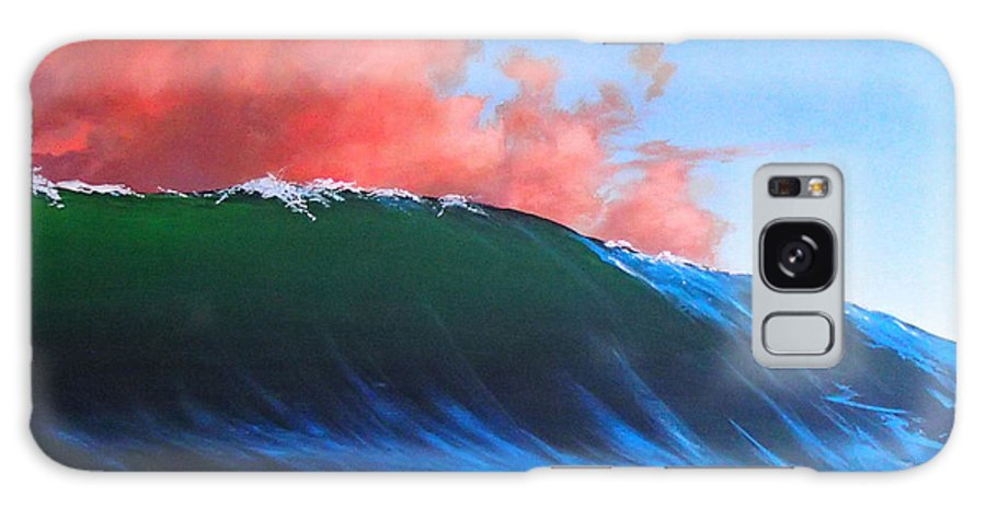 Wave Galaxy Case featuring the painting Take a left at Sunset by Philip Fleischer