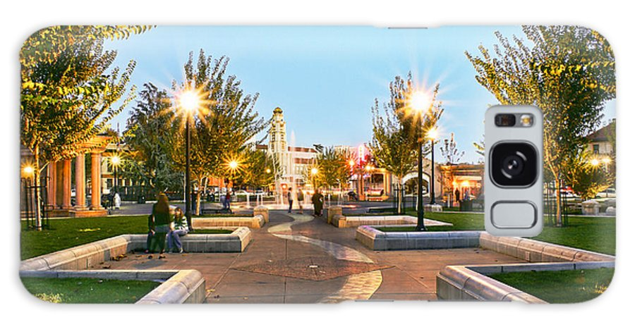 Chico City Plaza Galaxy S8 Case featuring the photograph Take A Walk Downtown by Abram House